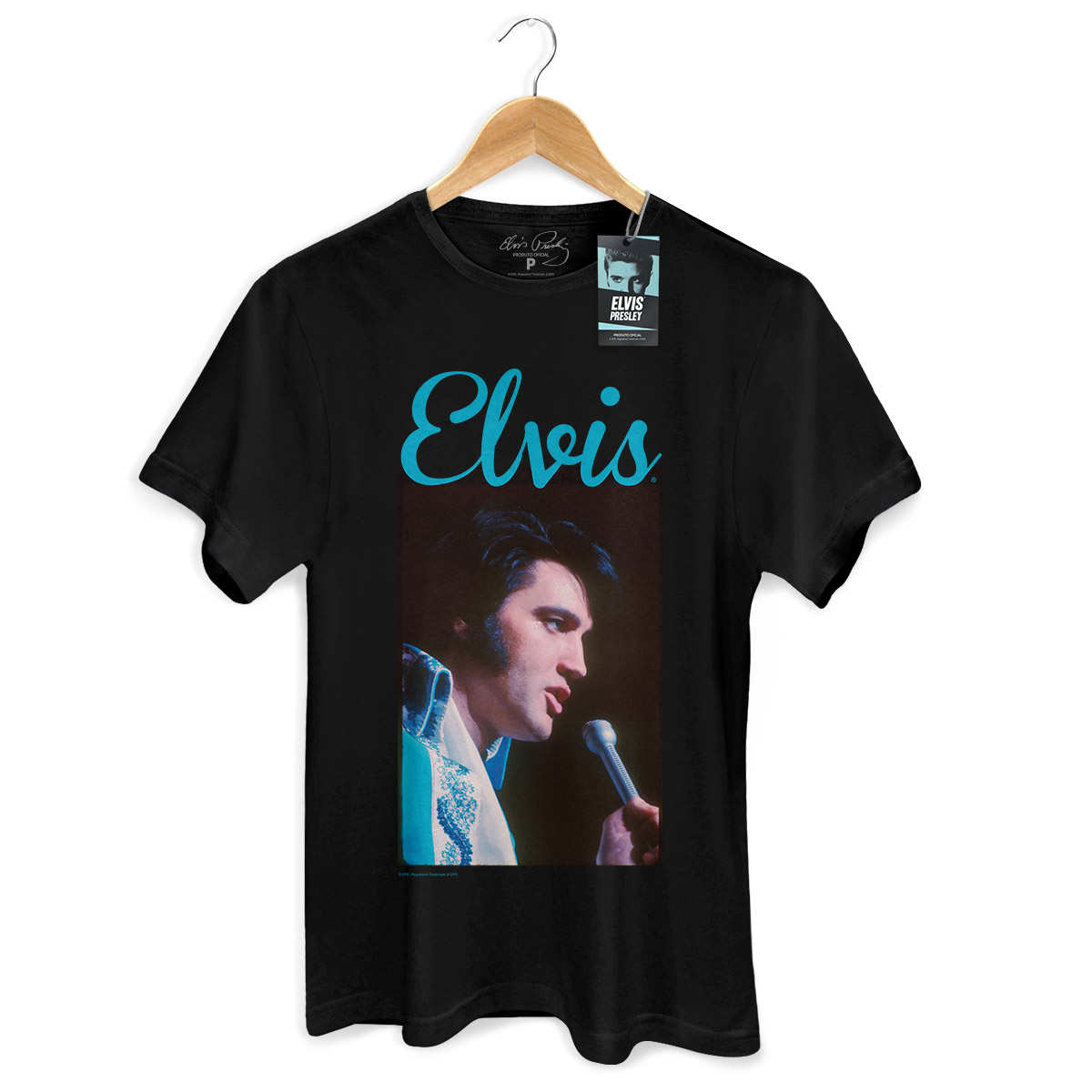 Camiseta Masculina Elvis Presley 70s Songs