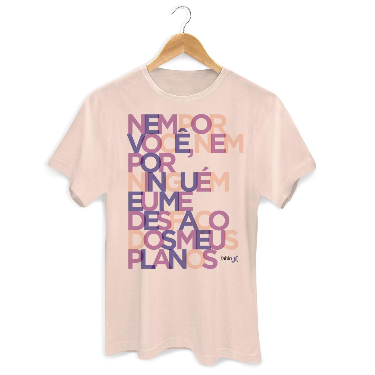 Camiseta Masculina Fábio Jr Meus Planos