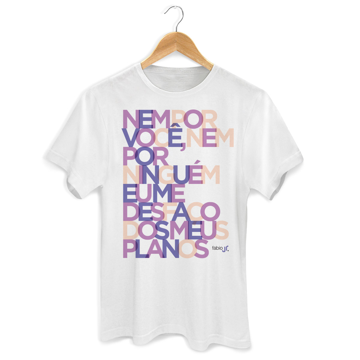 Camiseta Masculina Fábio Jr Meus Planos Colors