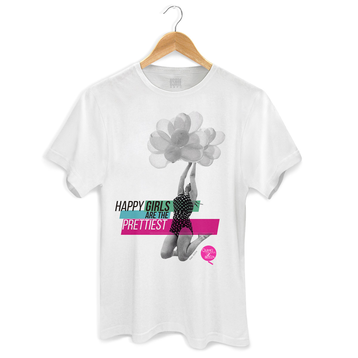 Camiseta Masculina QeB Happy Girls