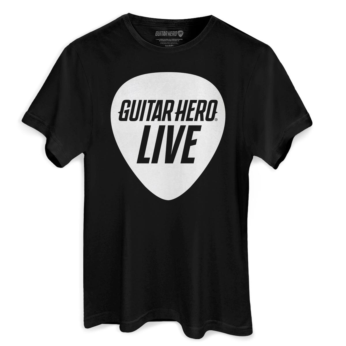 Camiseta Masculina Guitar Hero Palheta