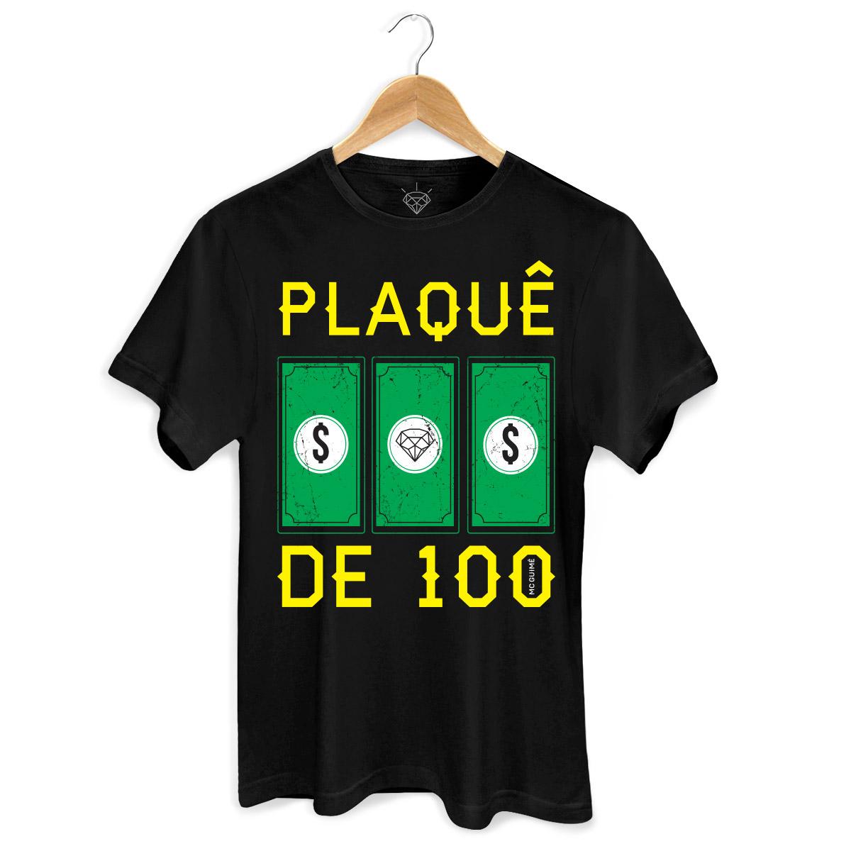 Camiseta Masculina MC Guimê Plaquê de 100