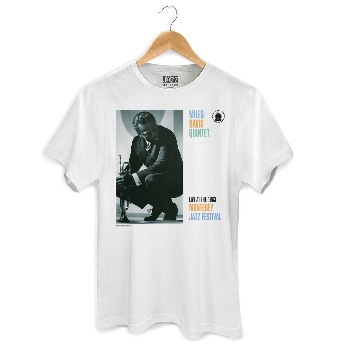 Camiseta Masculina Miles Davis Monterey Jazz Festival