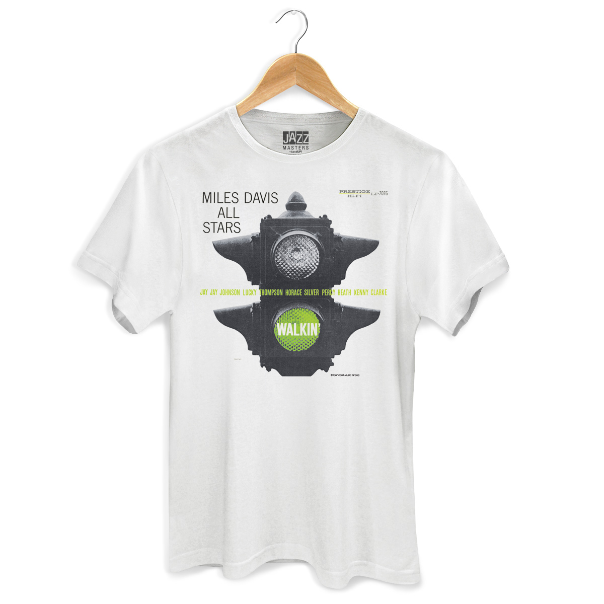 Camiseta Masculina Miles Davis Walkin' White