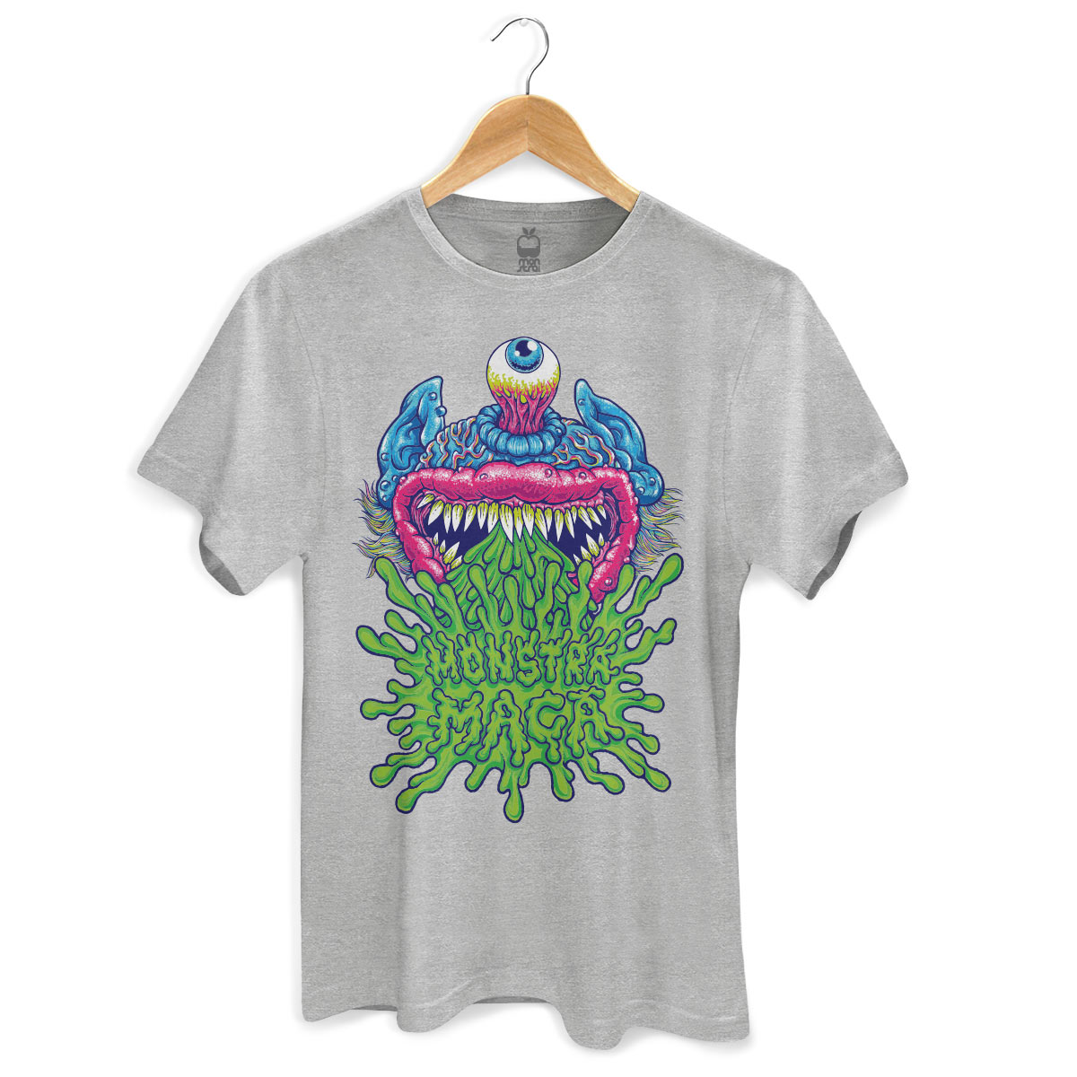 Camiseta Masculina Monstra Maçã Puke