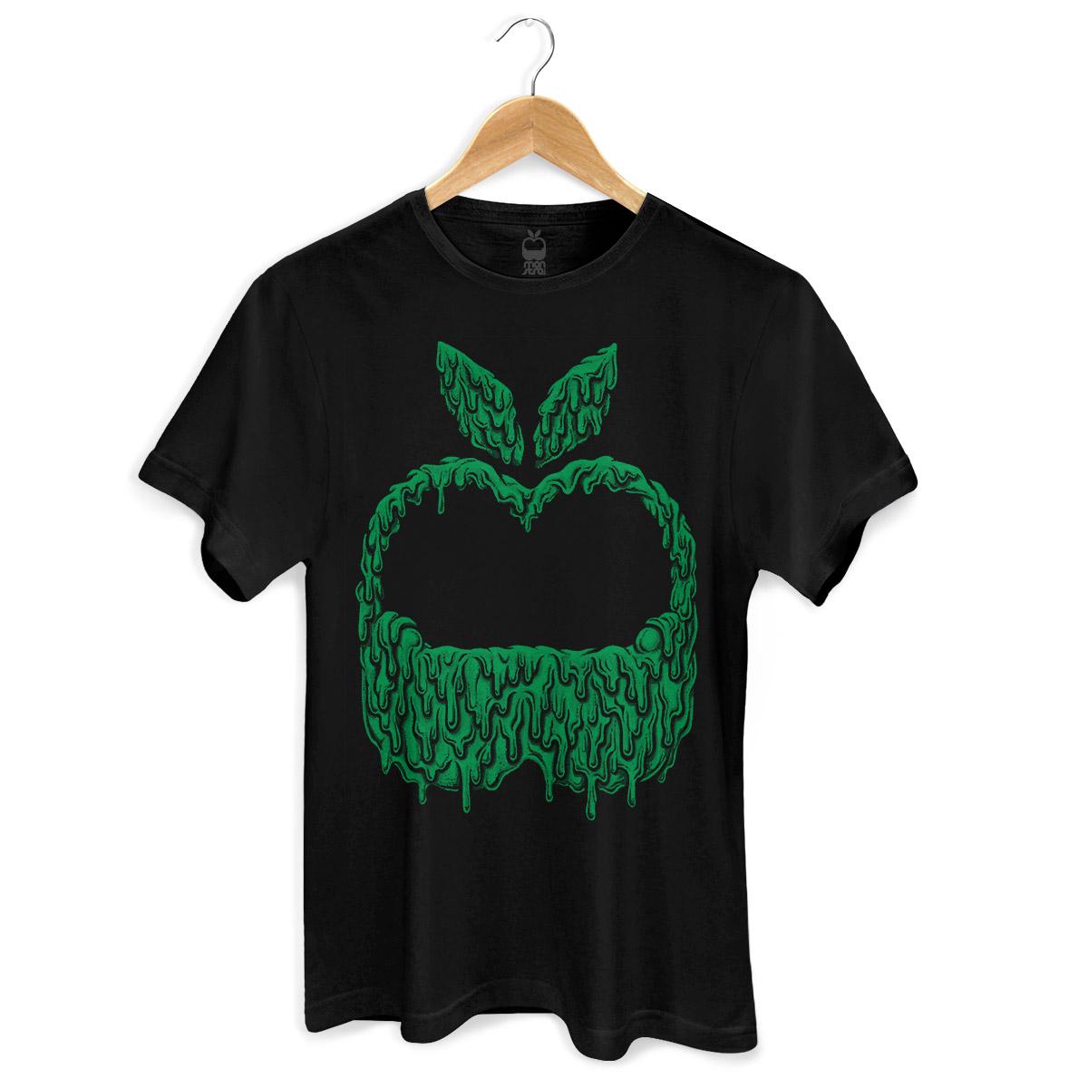 Camiseta Masculina Monstra Maçã Slime