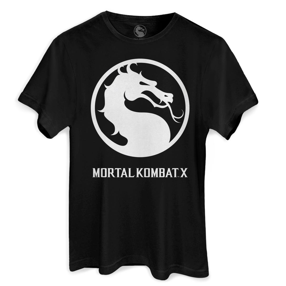 Camiseta Masculina Mortal Kombat X Logo