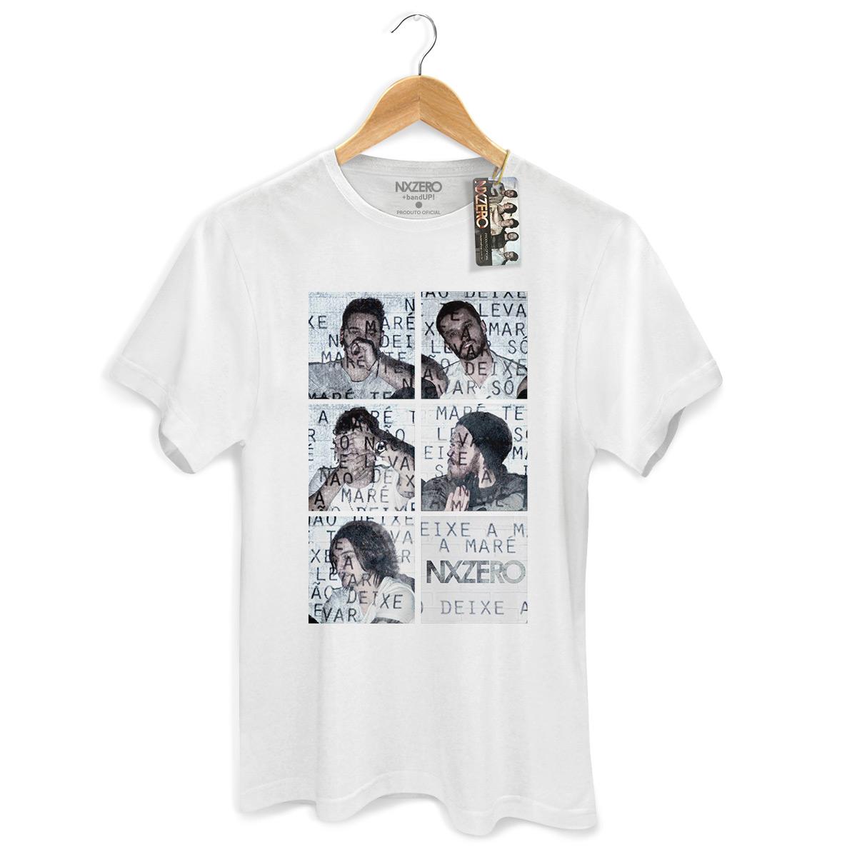 Camiseta Masculina NXZero Nao Deixe a Mare Te Levar Branca
