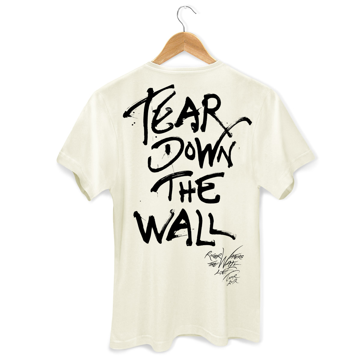 Camiseta Masculina Roger Waters Face Off Wall 2