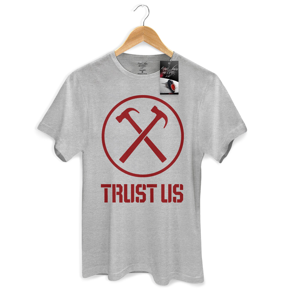 Camiseta Masculina Roger Waters Trust Us Modelo 2