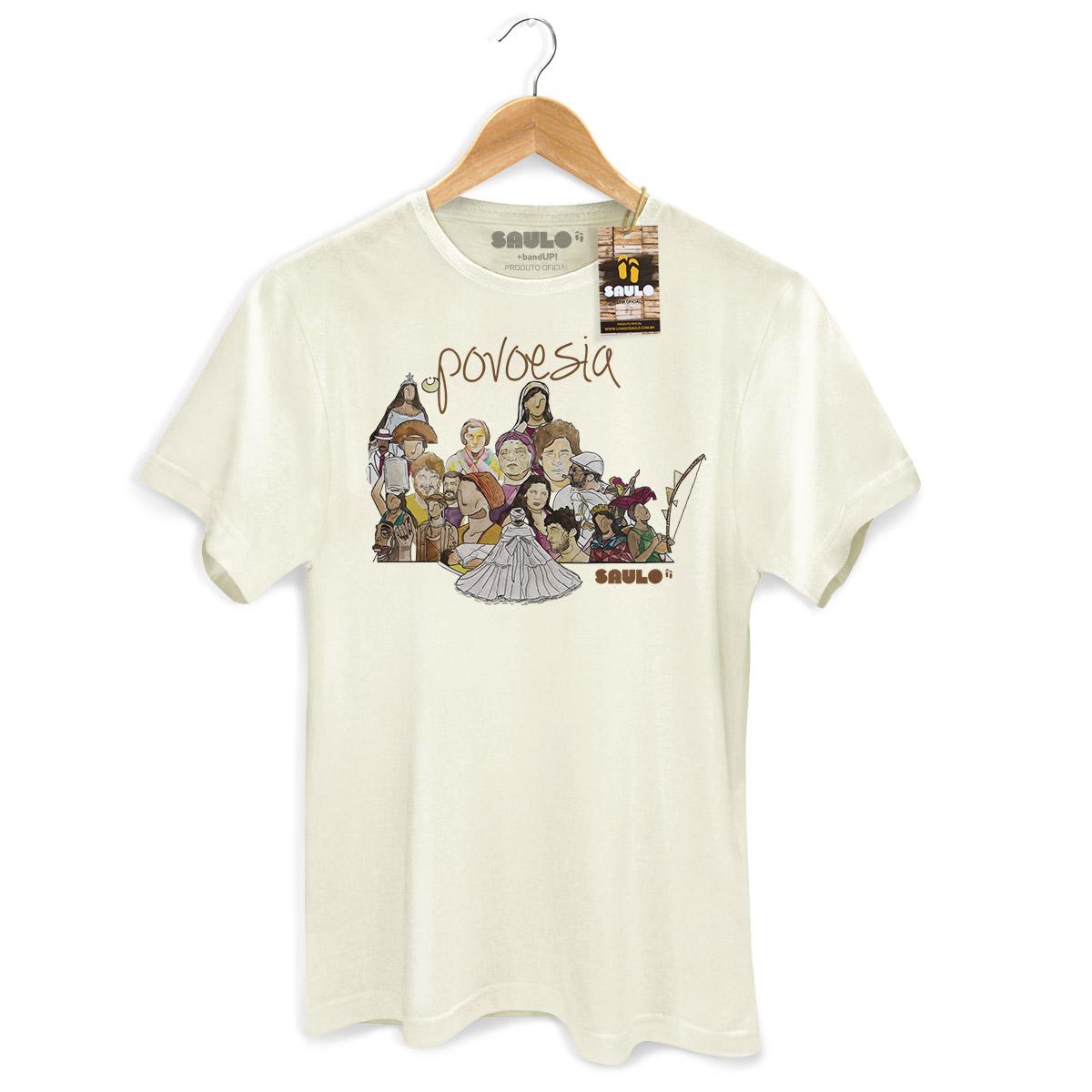 Camiseta Masculina Saulo Povoesia Ilustrada