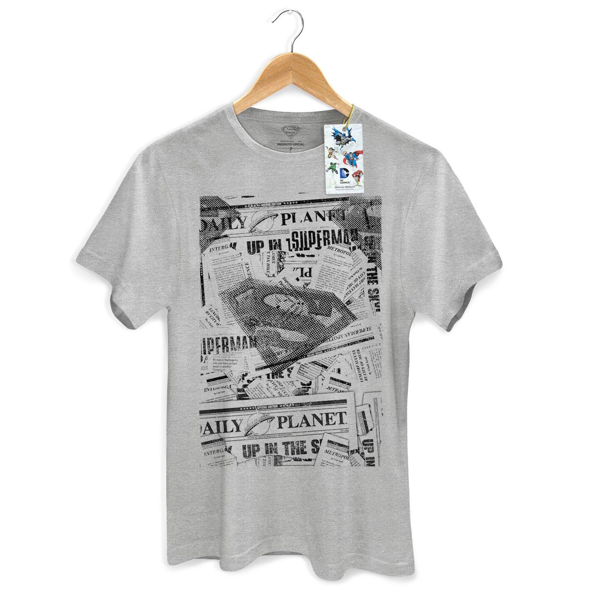 Camiseta Masculina Superman Planeta Diario