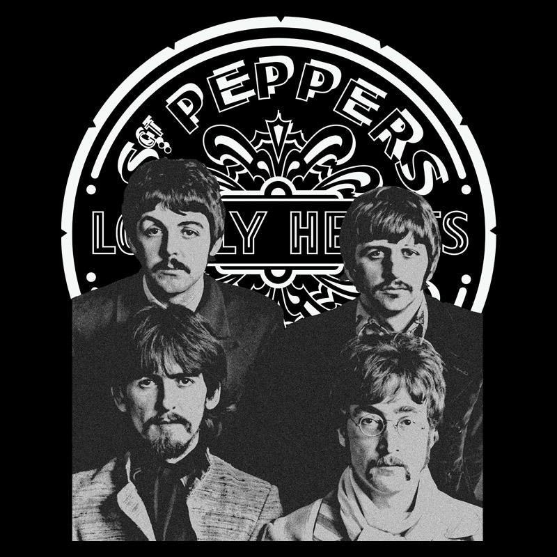 Camiseta Masculina The Beatles Sgt Pepper�s P&B