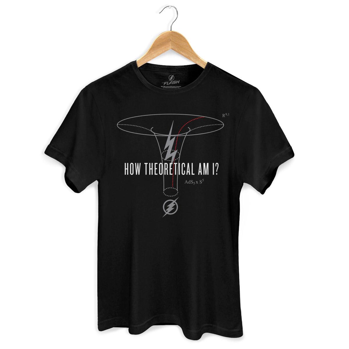 Camiseta Masculina The Flash Serie How Theoretical Am I?