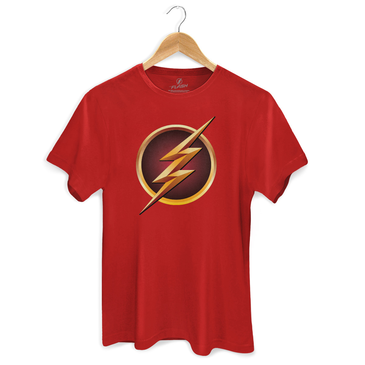 Camiseta Masculina The Flash Serie Logo Gold