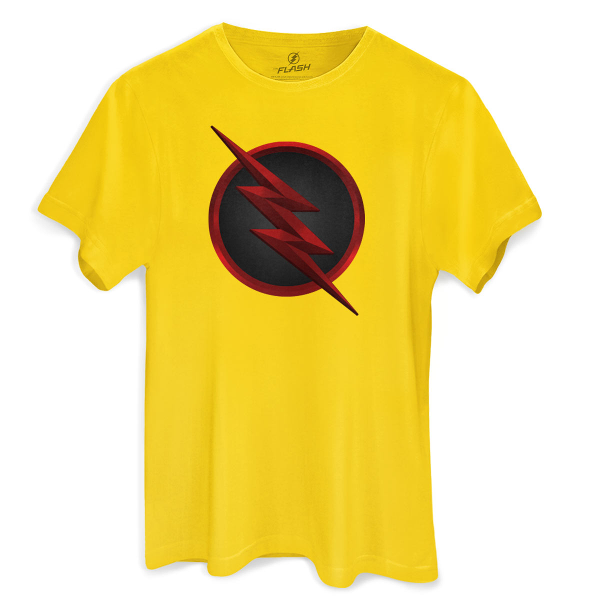 Camiseta Masculina The Flash Série Logo Reverse