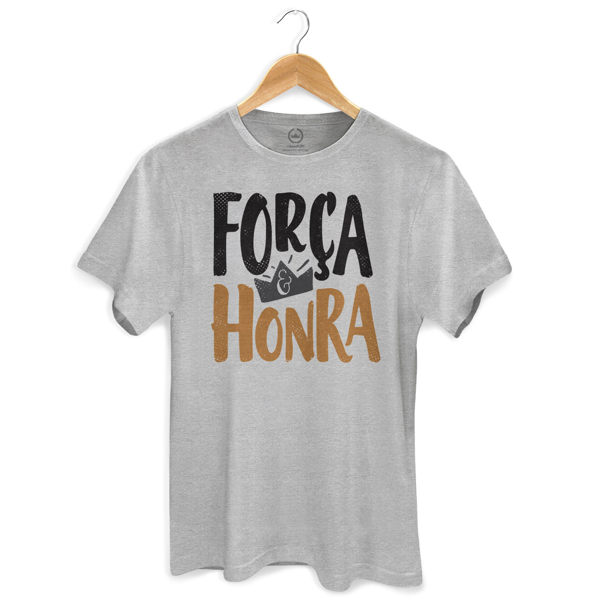 Camiseta Masculina Thiaguinho Força e Honra Gray