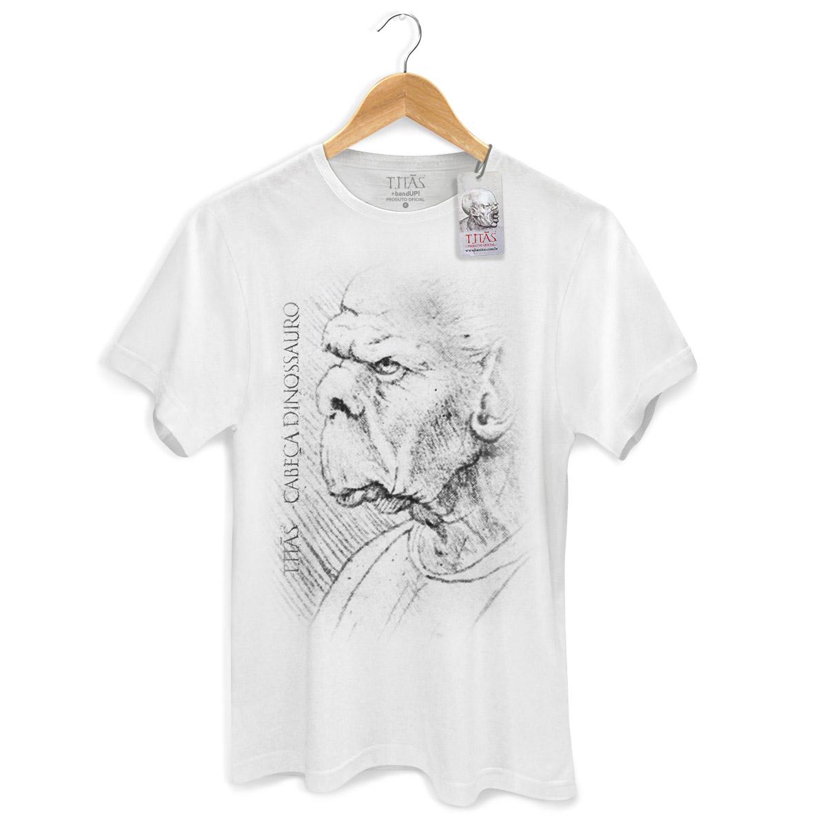 Camiseta Masculina Tit�s Cabe�a Dinossauro 2