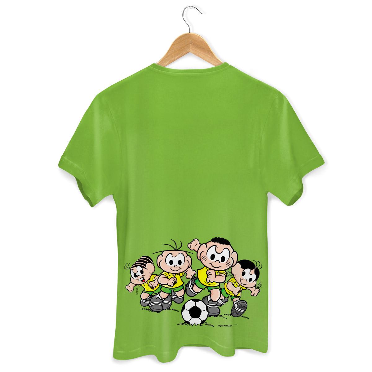 Camiseta Masculina Turma da M�nica Bras�o M�nica e Cebolinha