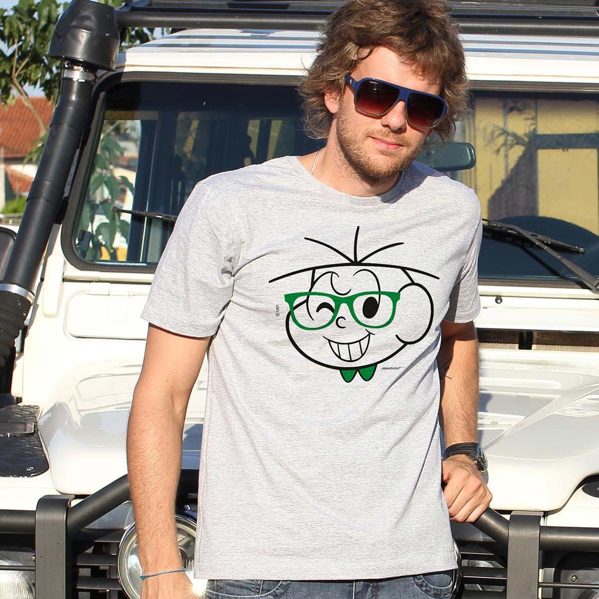 Camiseta Masculina Turma da M�nica Cebolinha Nerd
