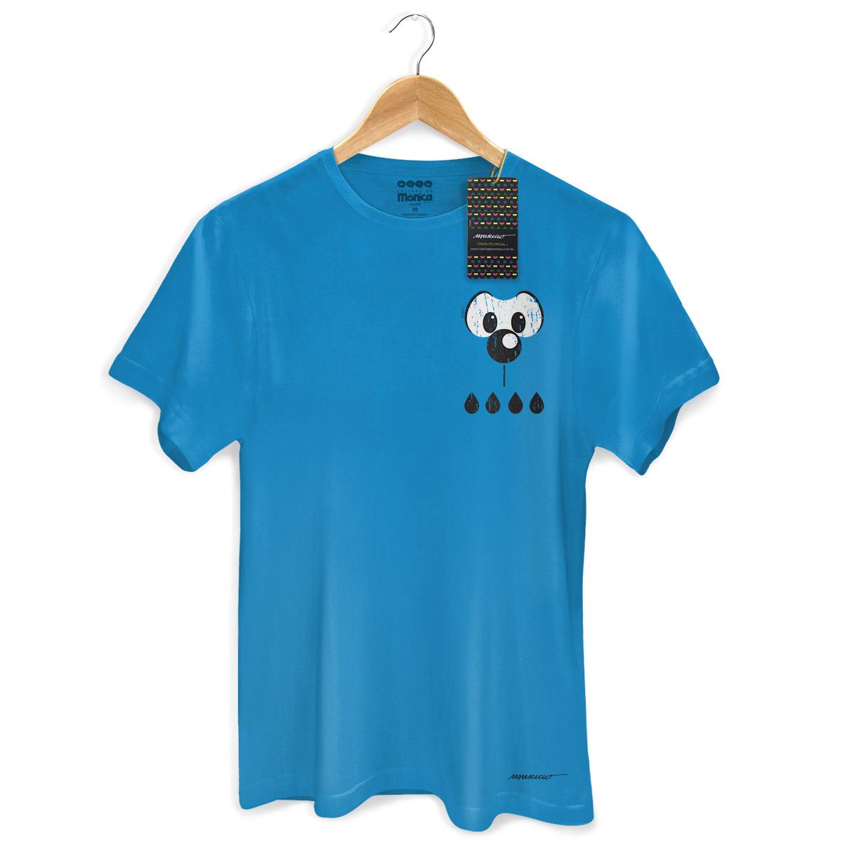 Camiseta Masculina Turma da M�nica Cool Olh�es Bidu