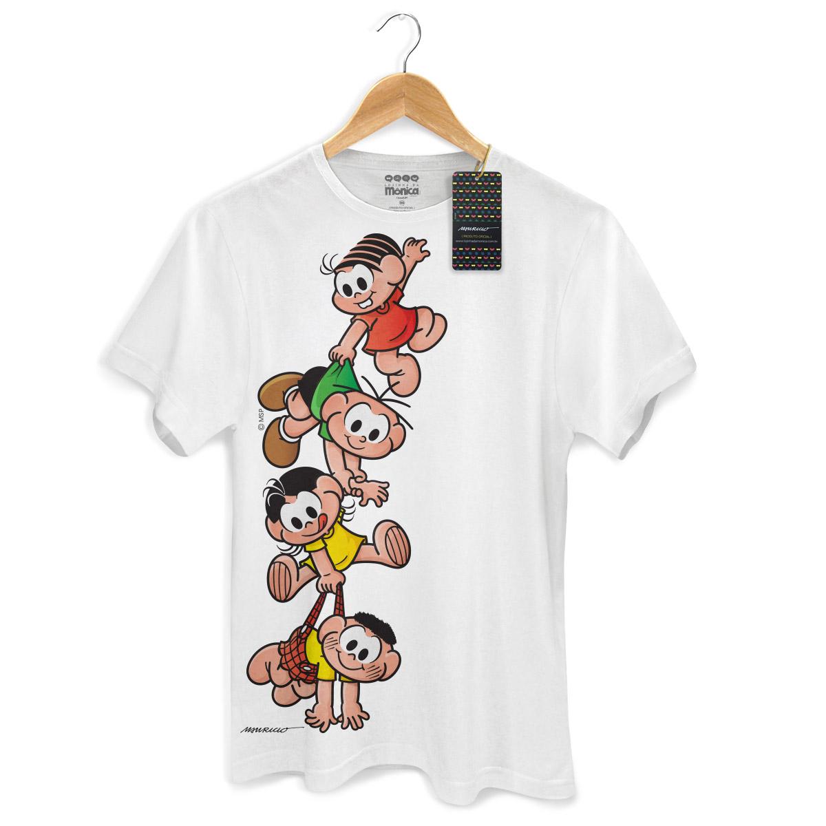 Camiseta Masculina Turma Da Mônica Kids A Turma
