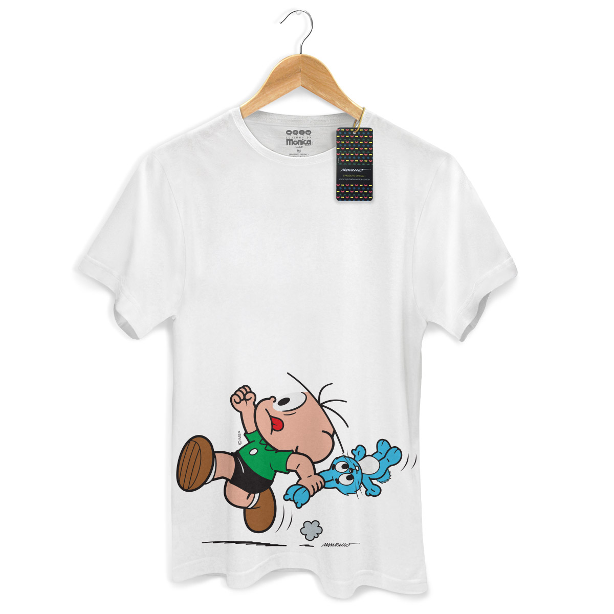 Camiseta Masculina Turma da M�nica Kids Cebolinha Fugindo