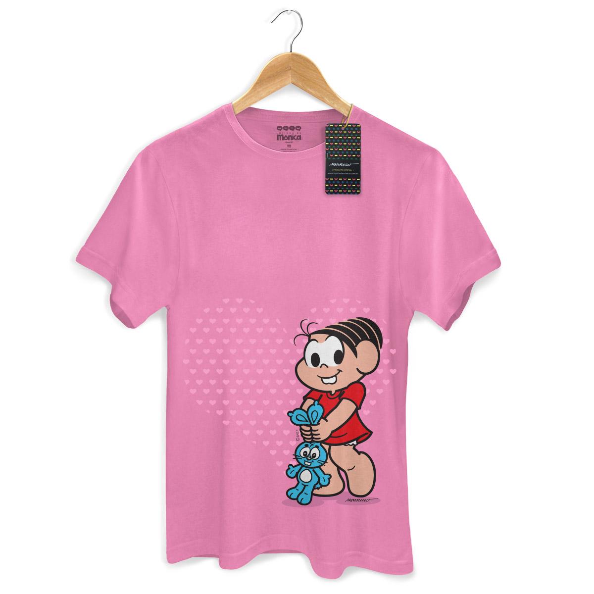 Camiseta Masculina Turma Da M�nica Kids M�nica Heart