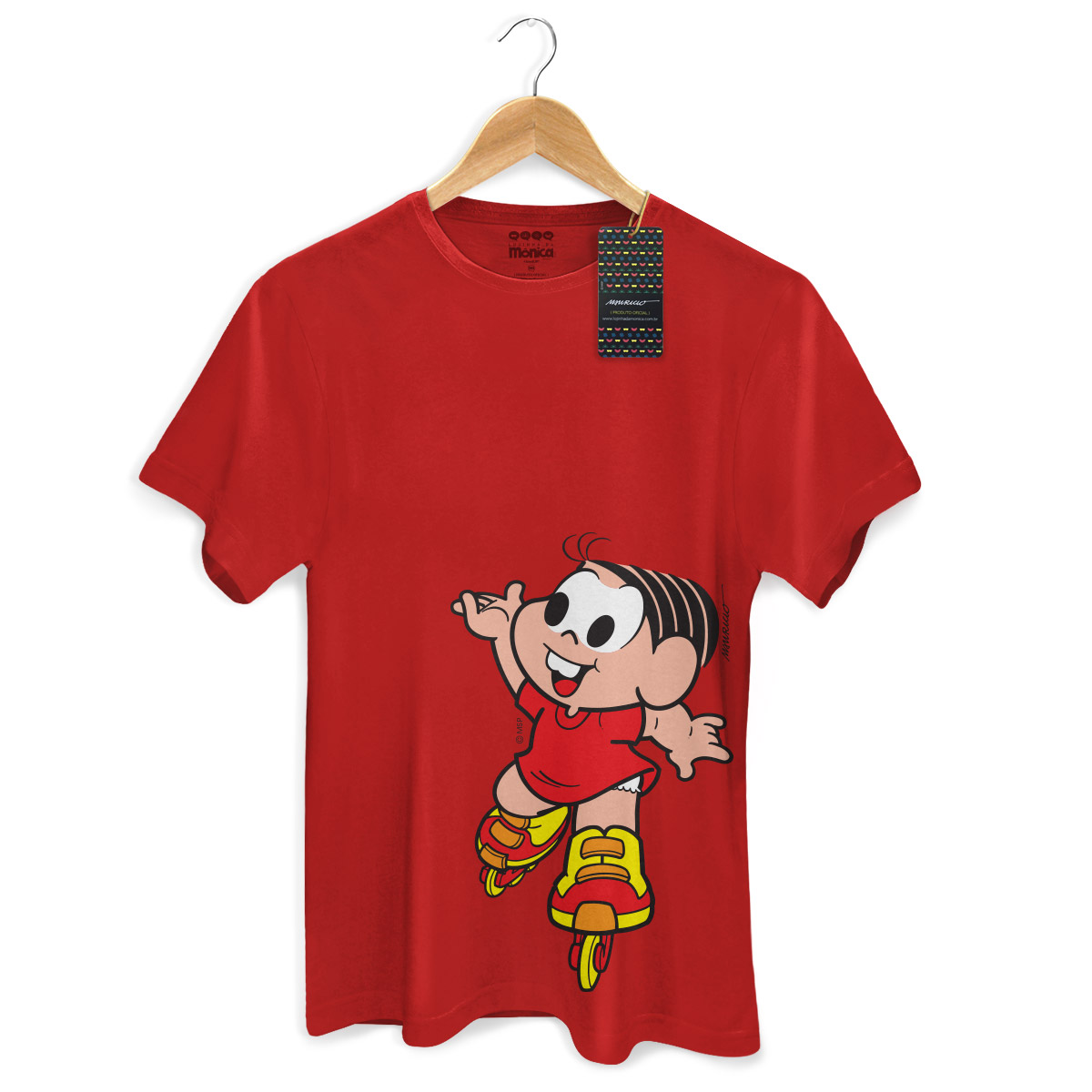 Camiseta Masculina Turma Da M�nica Kids M�nica Roller