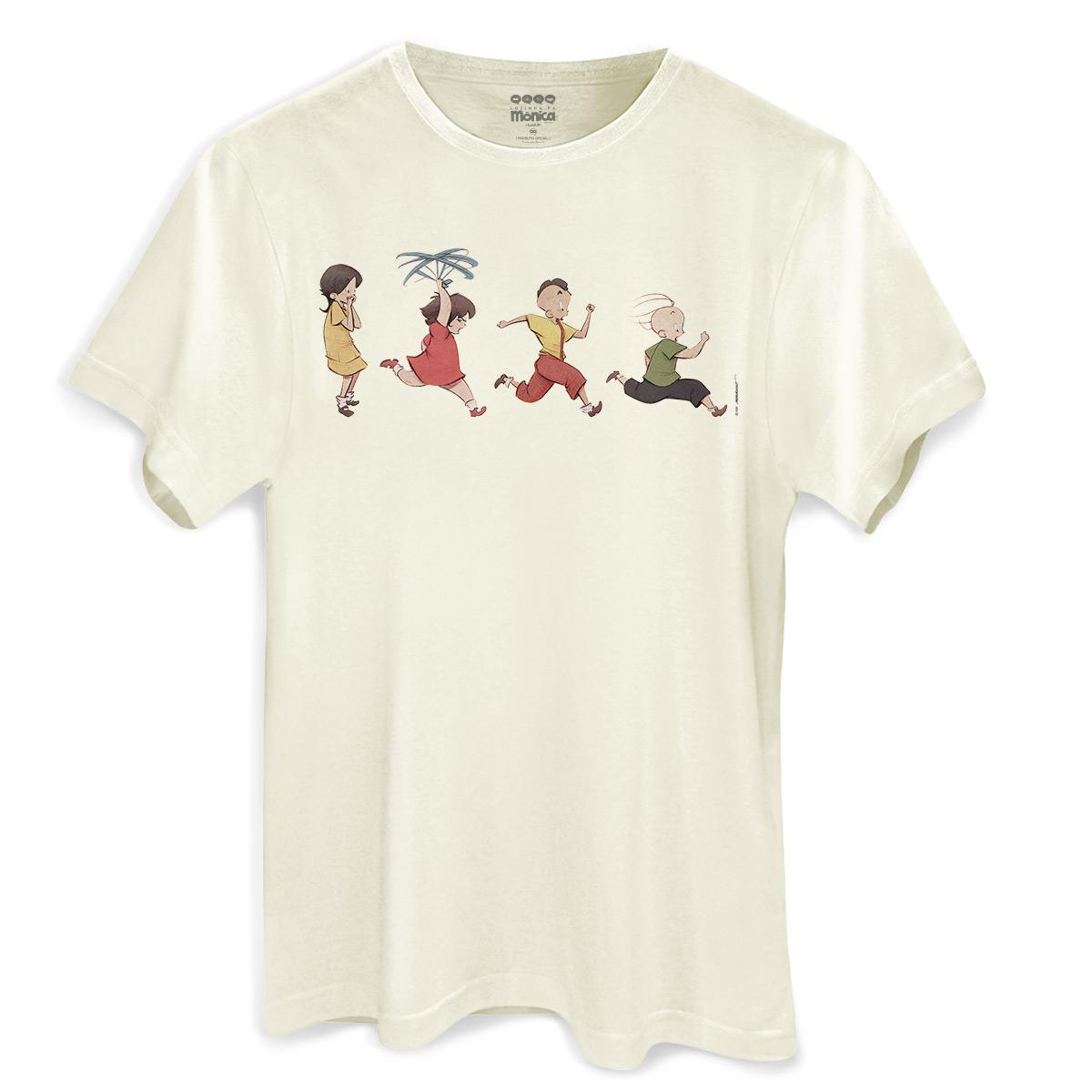 Camiseta Masculina Turma da Mônica Lições