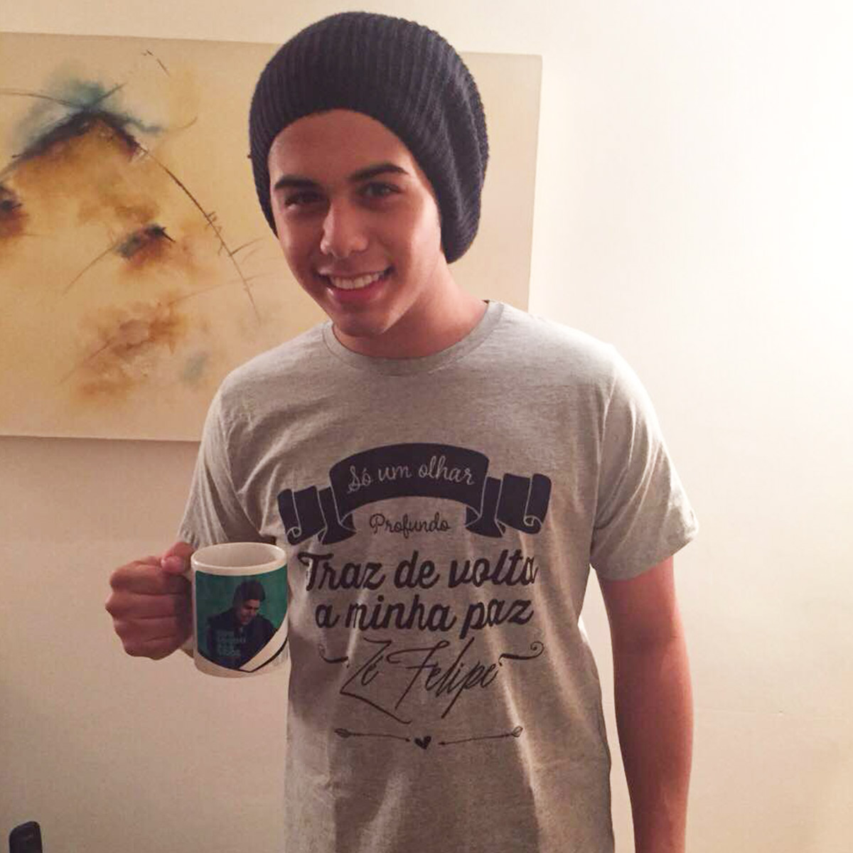 Camiseta Masculina Z� Felipe S� Um Olhar
