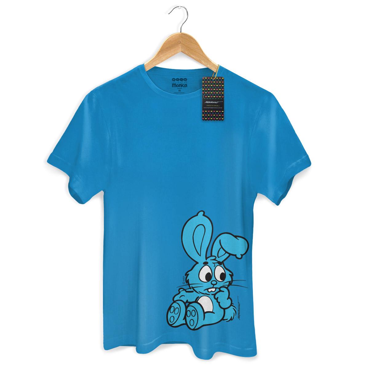 Camiseta Masculina Turma Da Mônica Kids Sansão Azul