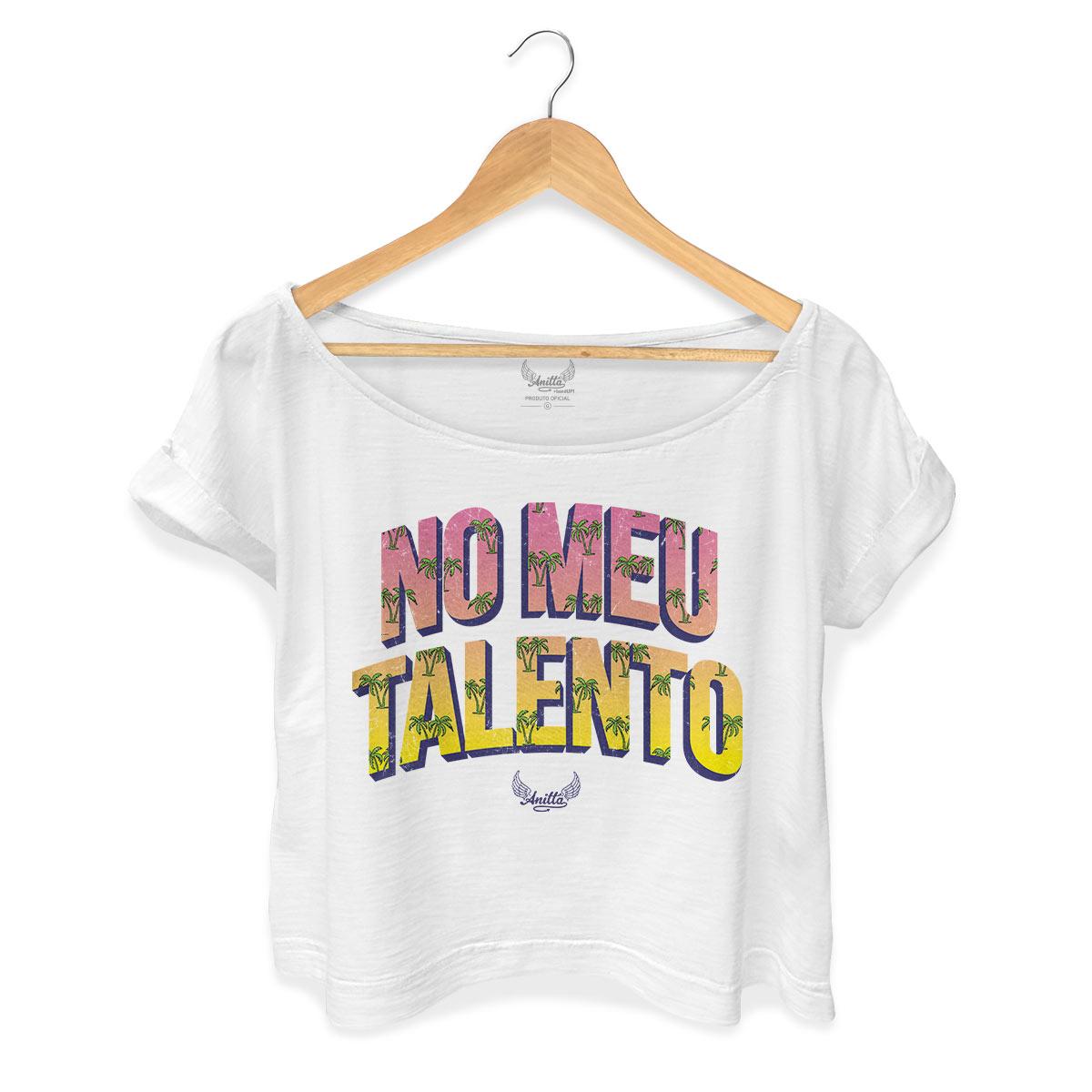 T-shirt Premium Feminina Gola Canoa Anitta No Meu Talento