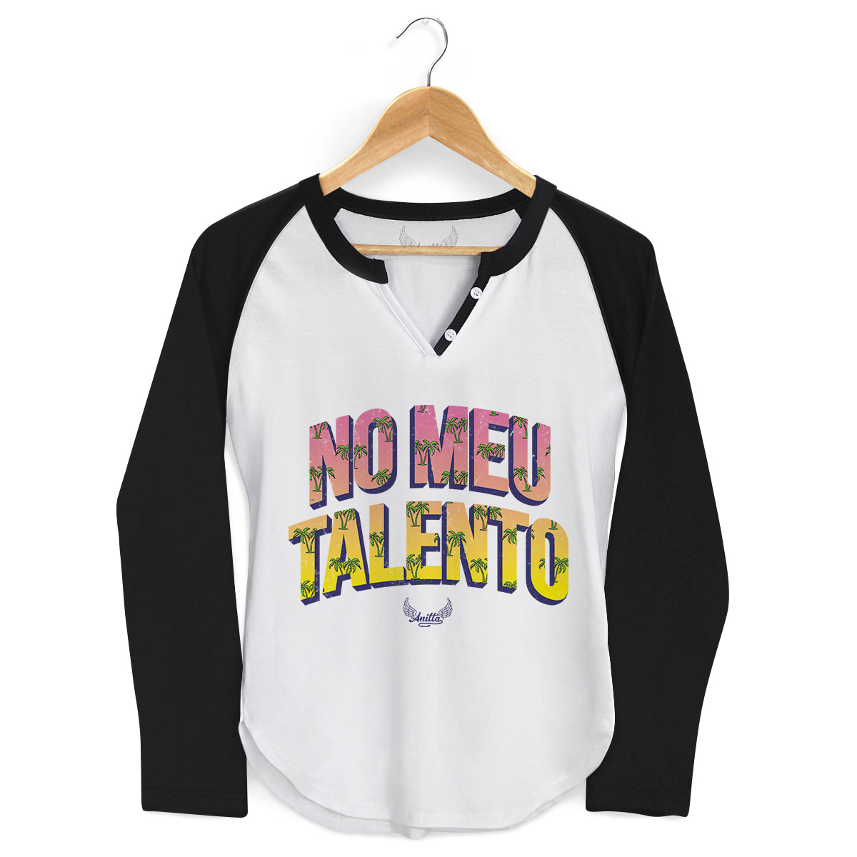 Camiseta Raglan Feminina Anitta No Meu Talento