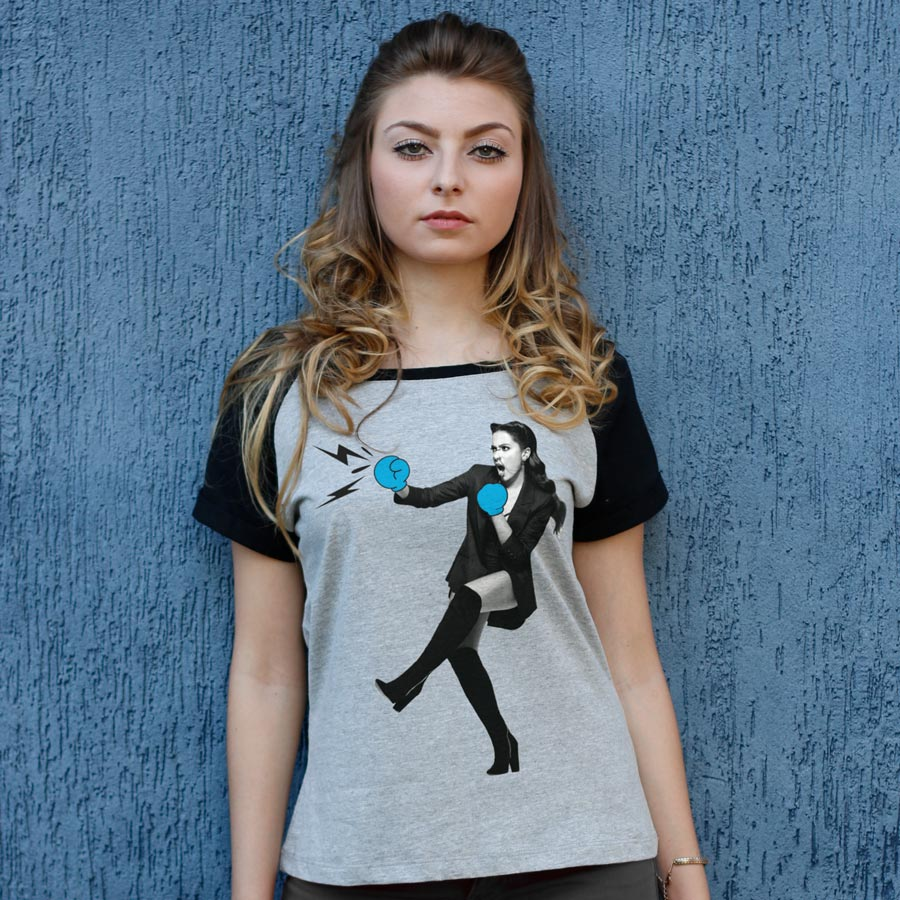 Camiseta Raglan Feminina Anitta Pode Chegar