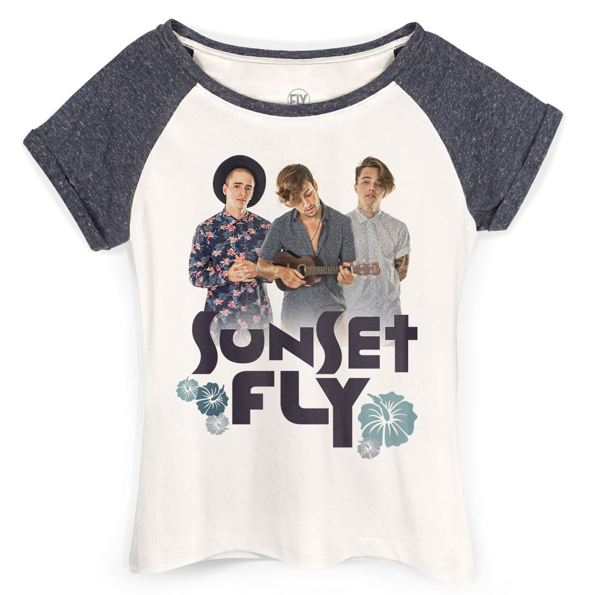 Camiseta Raglan Feminina Banda Fly Sunset Photo