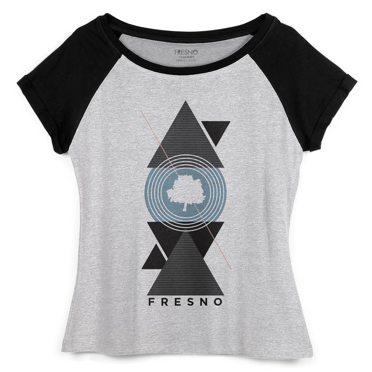 Camiseta Raglan Feminina Fresno Geometric