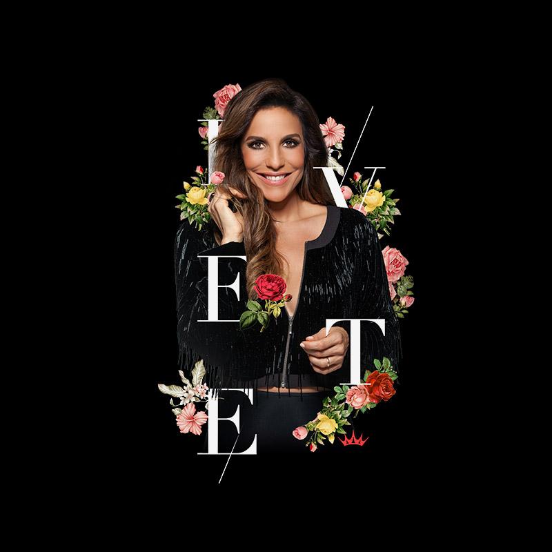 Camiseta Raglan Feminina Ivete Sangalo Riso Flowers