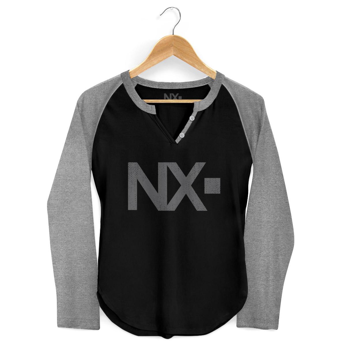 Camiseta Raglan Feminina NXZero Logo Negative