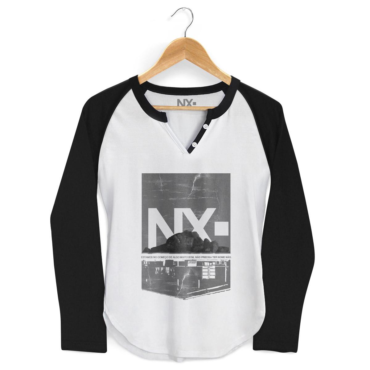 Camiseta Raglan Feminina NXZero Sem Nome