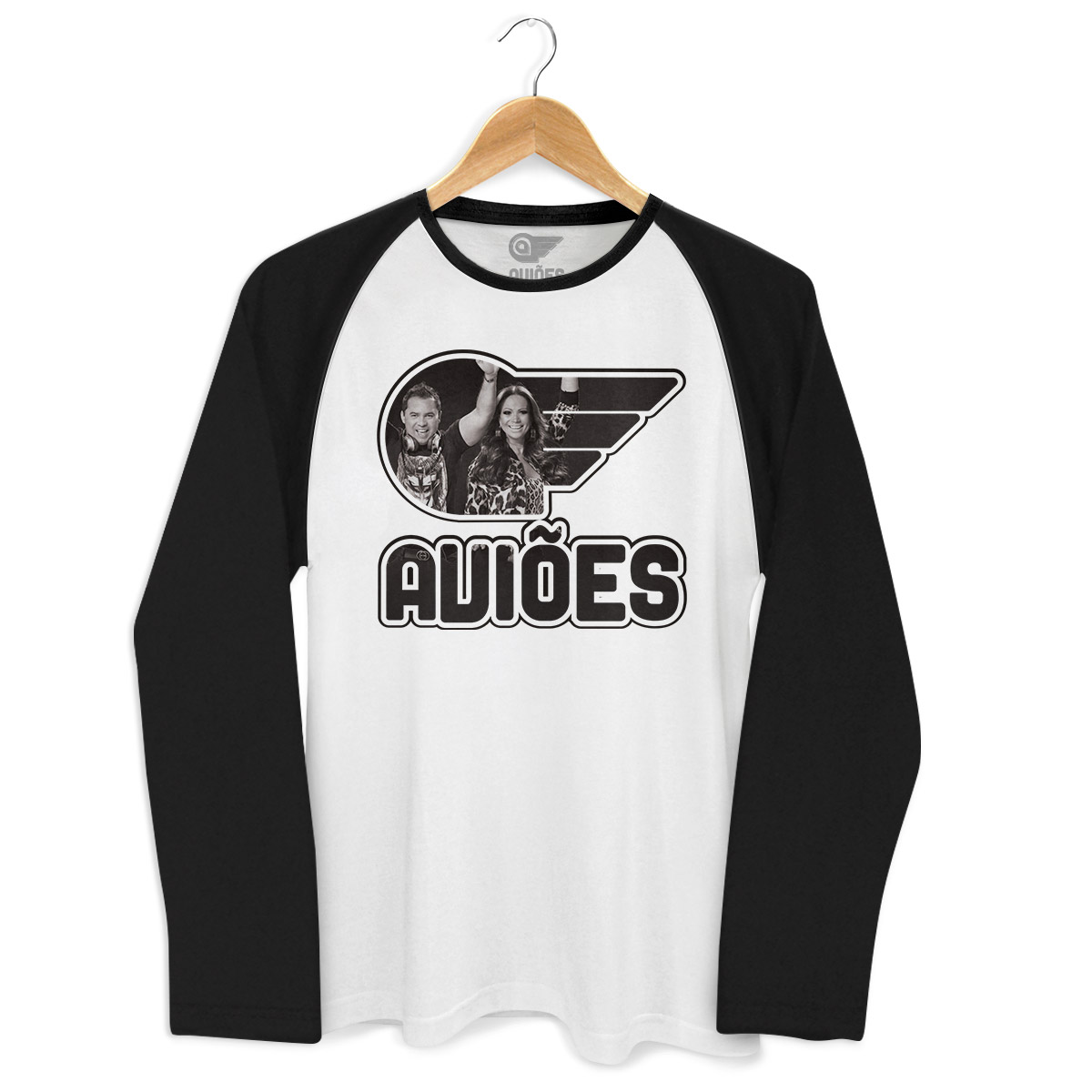 Camiseta Raglan Masculina Aviões do Forró Logo