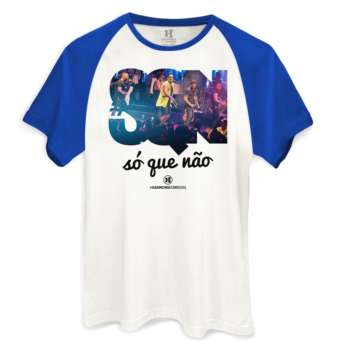 Camiseta Raglan Masculina Harmonia do Samba Só que Não