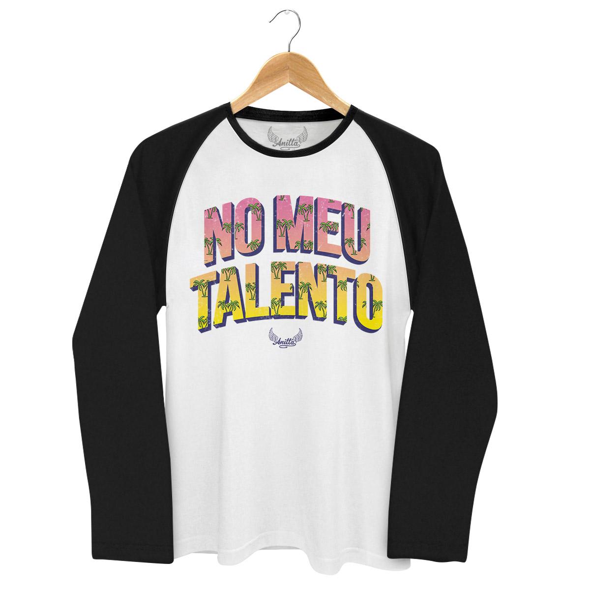 Camiseta Raglan Masculina Anitta No Meu Talento
