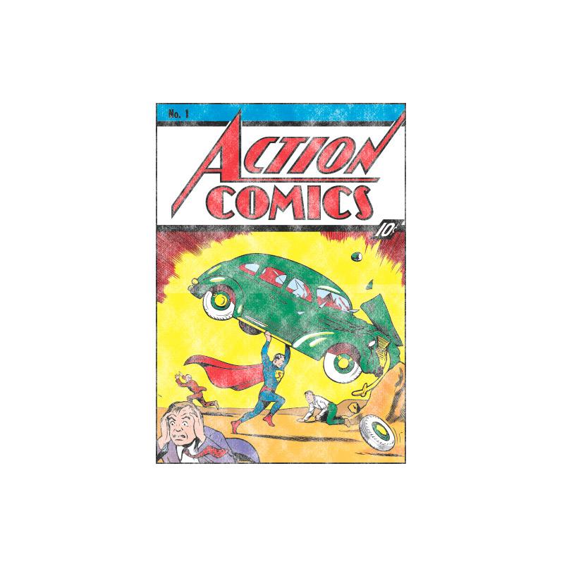 Camiseta Raglan Masculina Superman Action Comics N�1