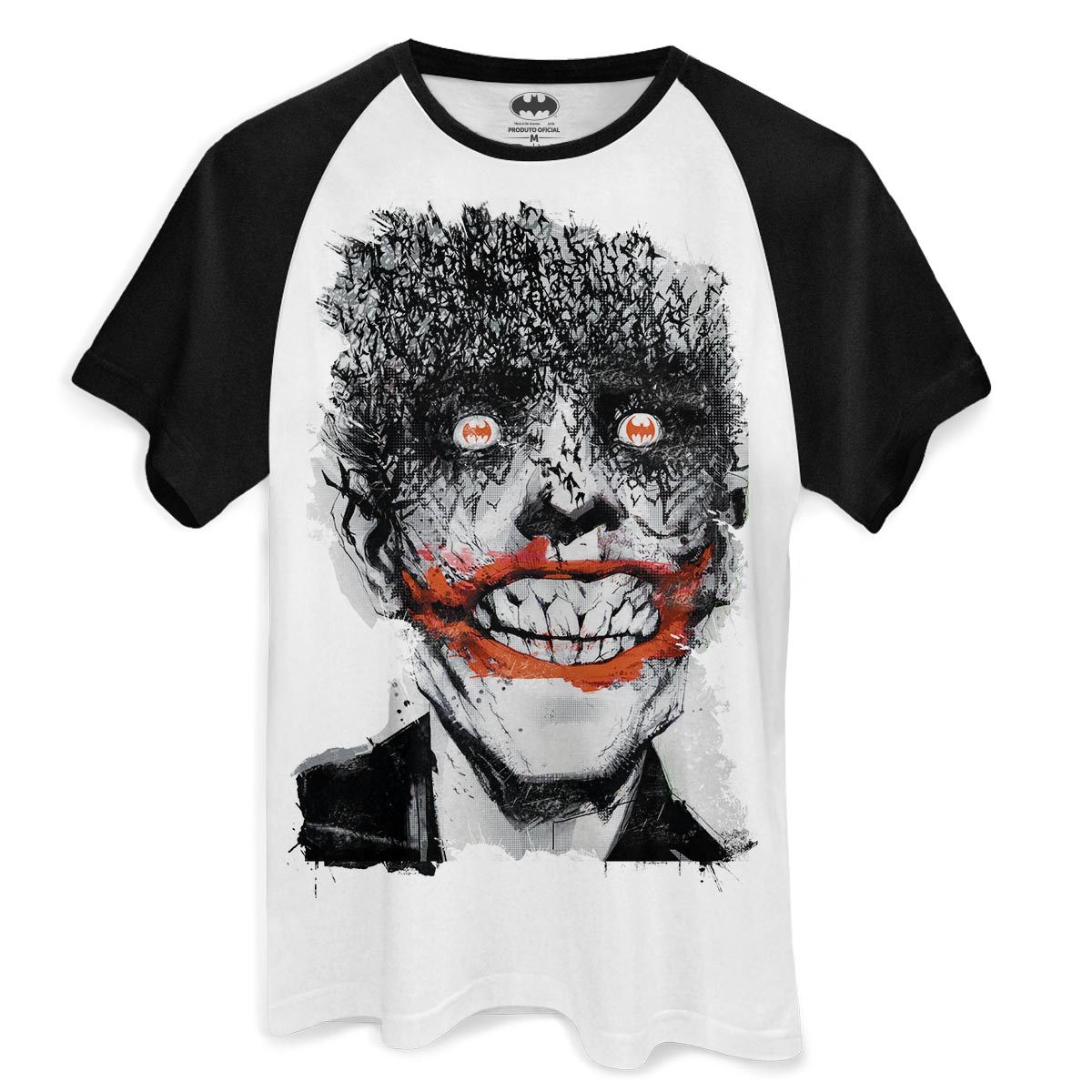 Camiseta Raglan Masculina The Joker Happy Bats
