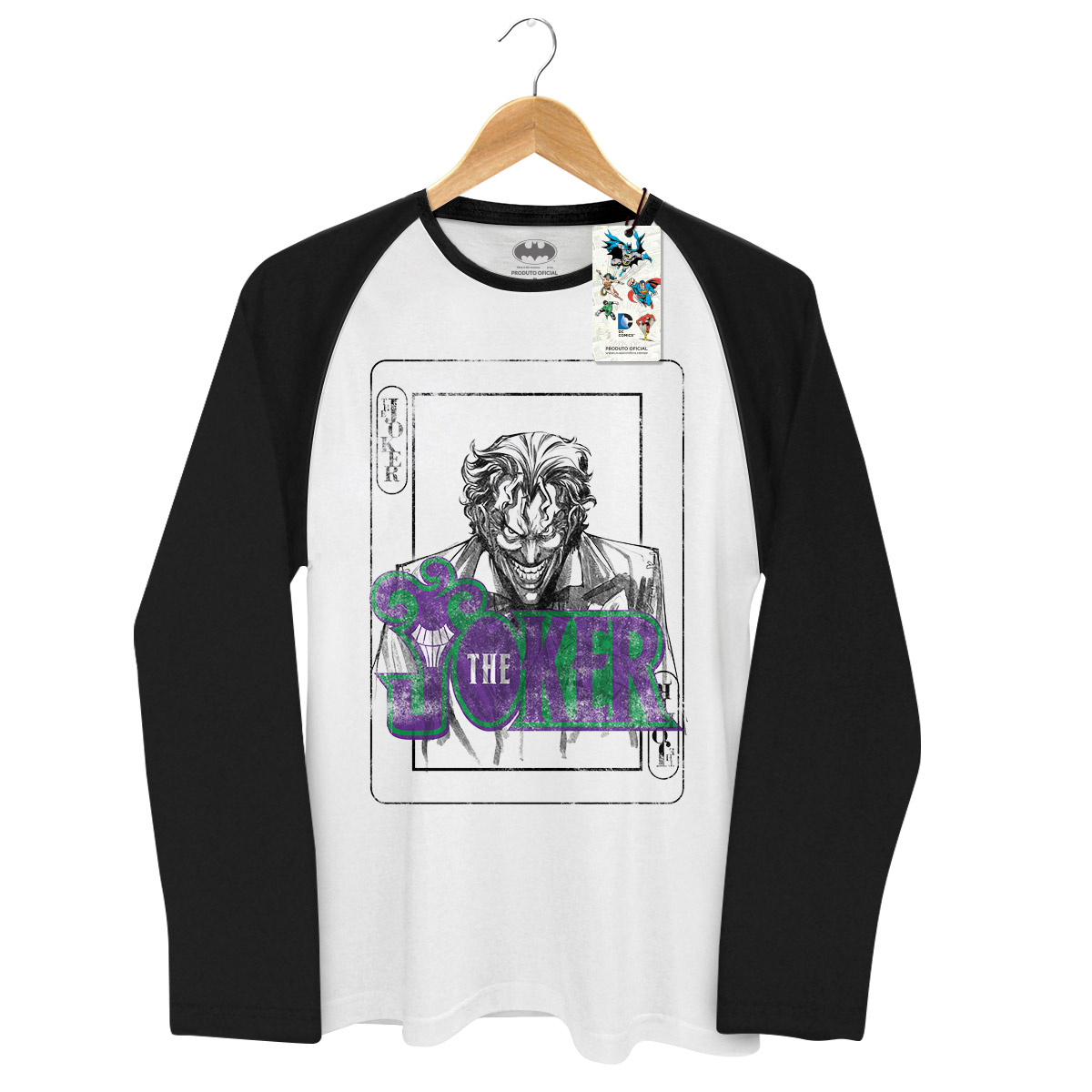 Camiseta Raglan Masculina The Joker Playing Card