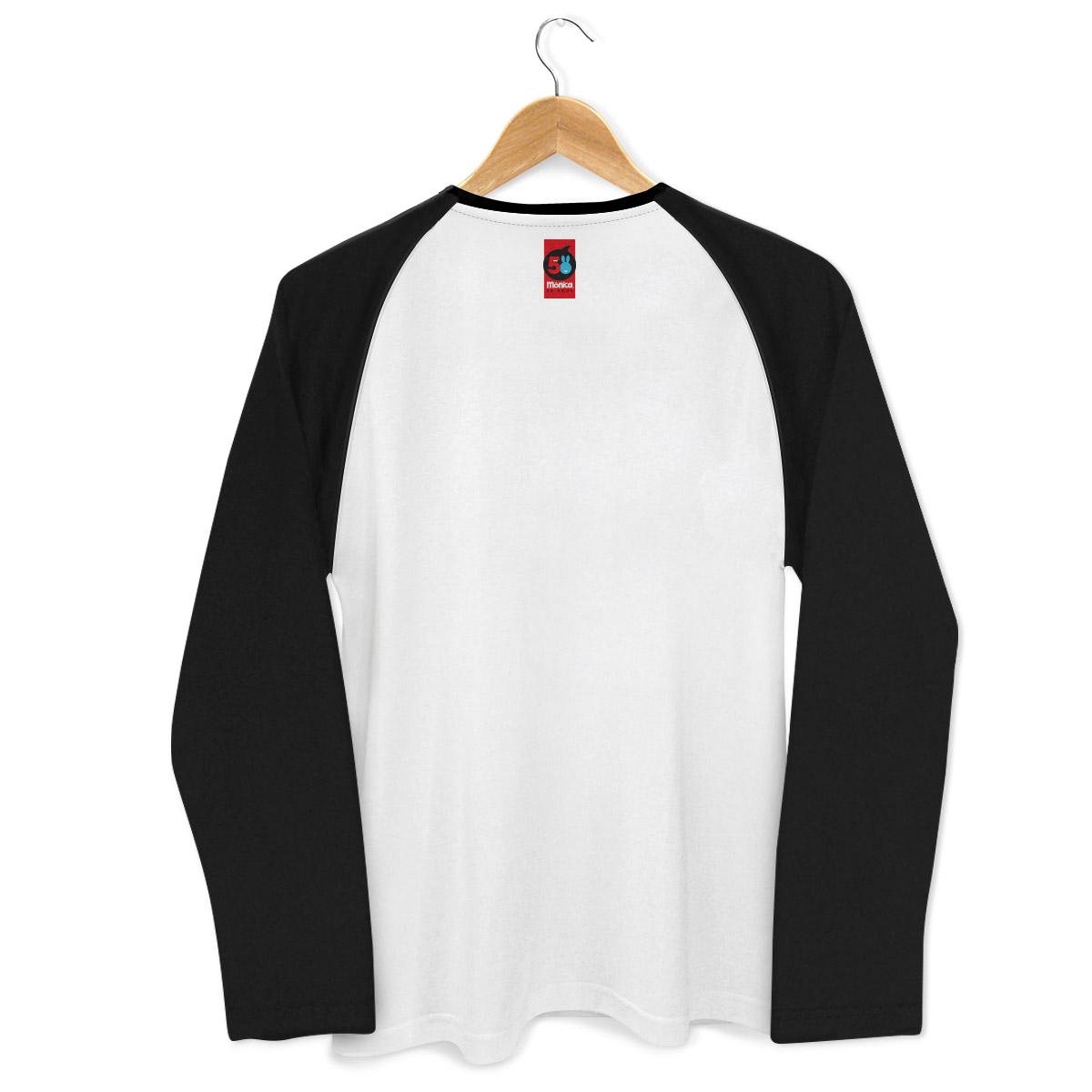 Camiseta Raglan Masculina Turma da M�nica 50 Anos Evolu��o Modelo 9