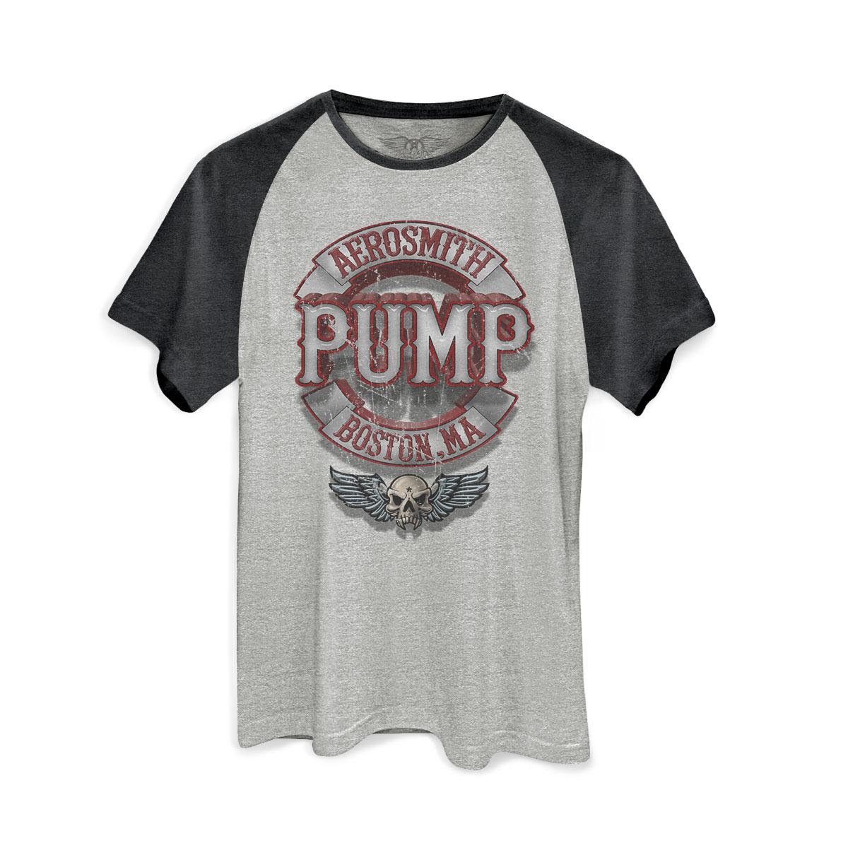 Camiseta Raglan Premium Masculina Aerosmith Pump