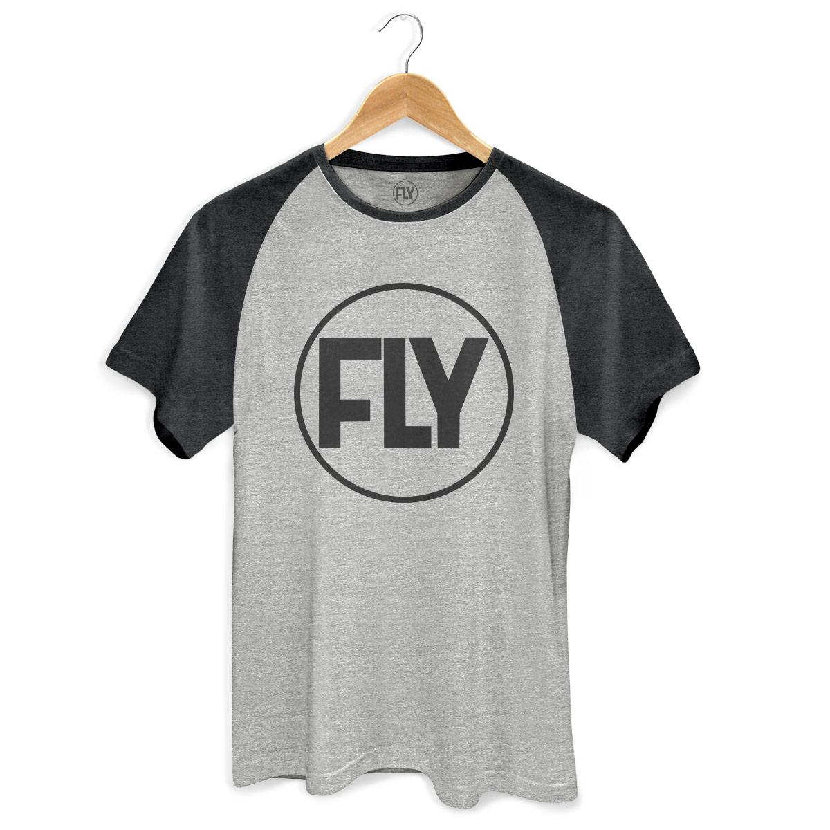 Camiseta Raglan Premium Masculina Banda Fly Logo