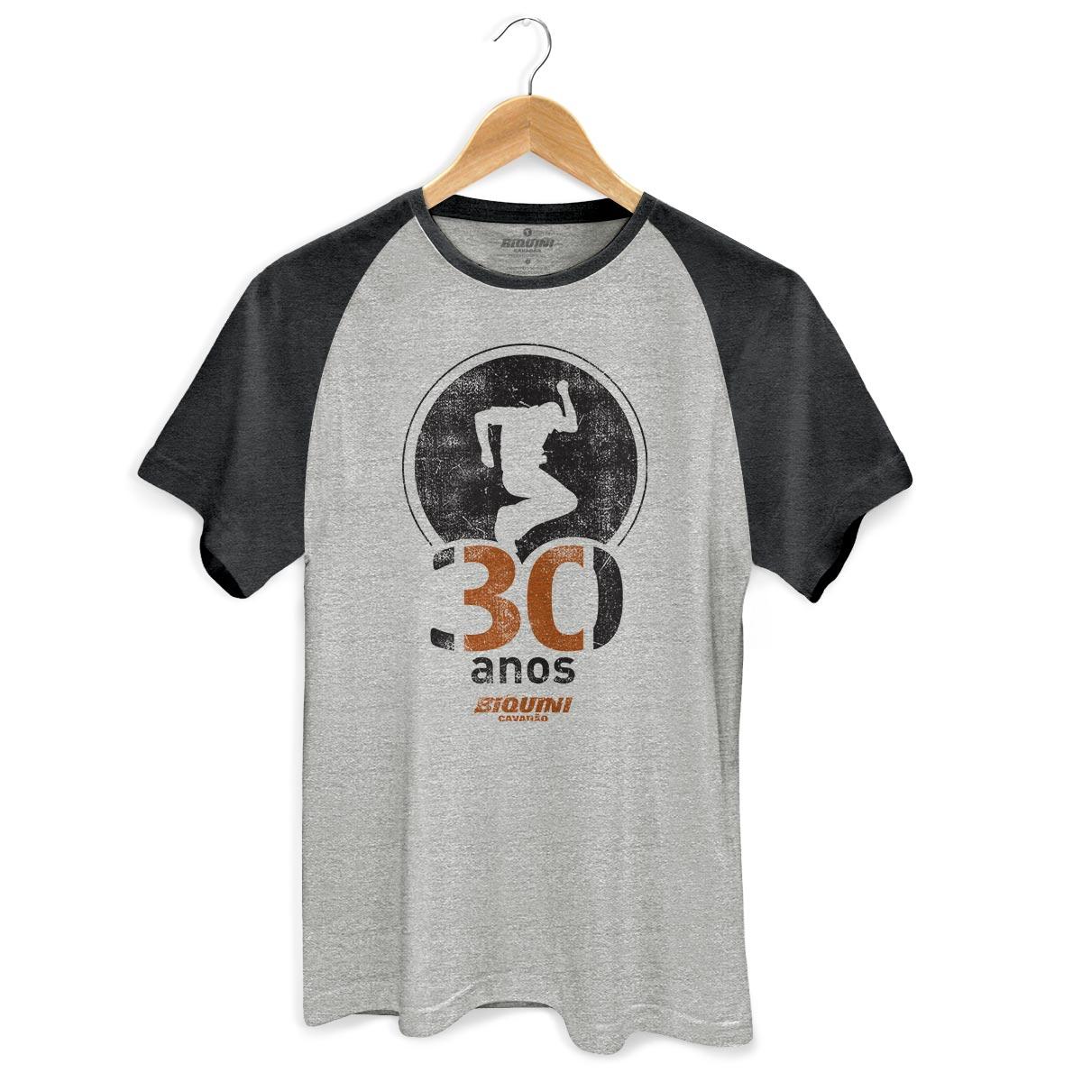 Camiseta Raglan Premium Masculina Biquini Cavad�o 30 Anos